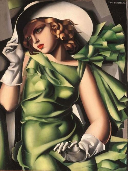 Obraz do salonu artysty Tamara Łempicka pod tytułem Young Lady with Gloves (48/100)