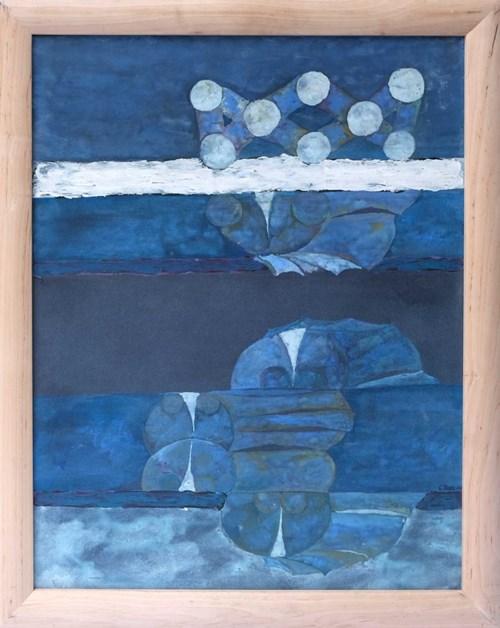 Obraz do salonu artysty Grzegorz Pabel pod tytułem Niebieska kompozycja