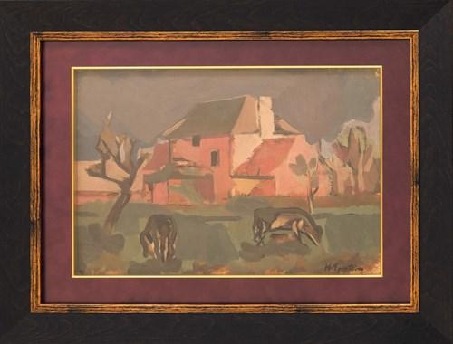 Obraz do salonu artysty Henryk Epstein pod tytułem Widok fermy