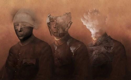 Grafika do salonu artysty Konrad Kucz pod tytułem Popiołem, cieniem, wspomnieniem sie staniesz