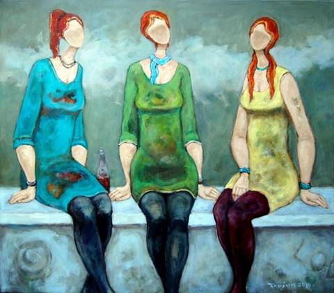 Obraz do salonu artysty Henryk Trojan pod tytułem Nudny wieczór