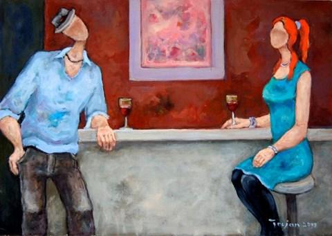 Obraz do salonu artysty Henryk Trojan pod tytułem Bar z różową abstrakcją