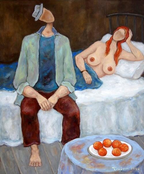 Obraz do salonu artysty Henryk Trojan pod tytułem Hiszpańskie pomarańcze II
