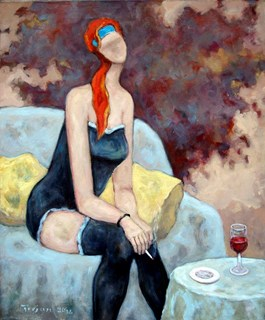 Obraz do salonu artysty Henryk Trojan pod tytułem Koneserka