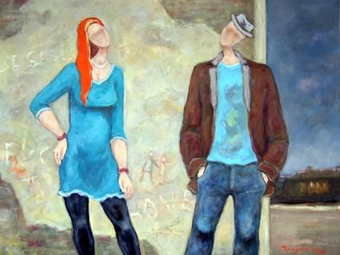 Obraz do salonu artysty Henryk Trojan pod tytułem Wieczorne rozmowy