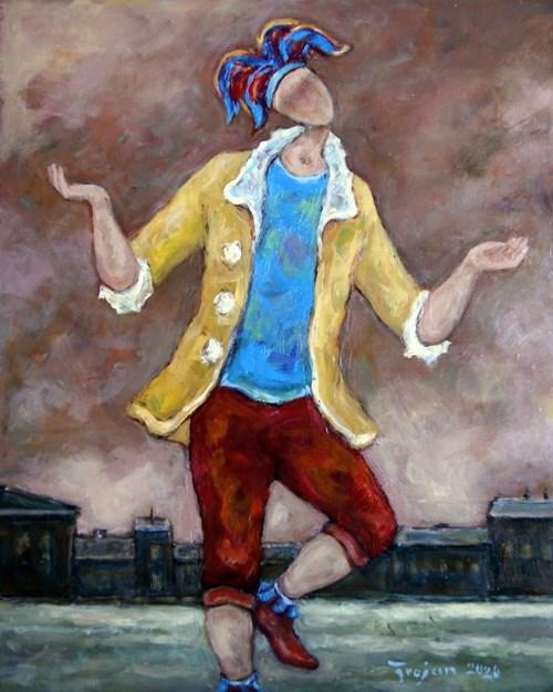 Obraz do salonu artysty Henryk Trojan pod tytułem Tańczący