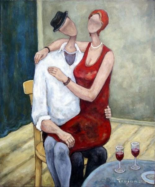Obraz do salonu artysty Henryk Trojan pod tytułem Nagły przypływ uczuć