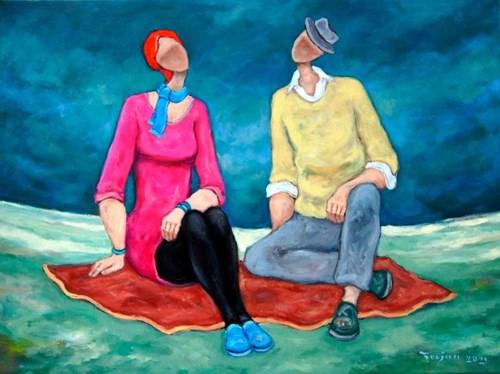 Obraz do salonu artysty Henryk Trojan pod tytułem Wieczorne rendez vous