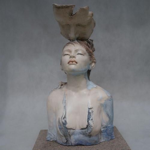Rzeźba do salonu artysty Joanna Brudzińska pod tytułem Błękit