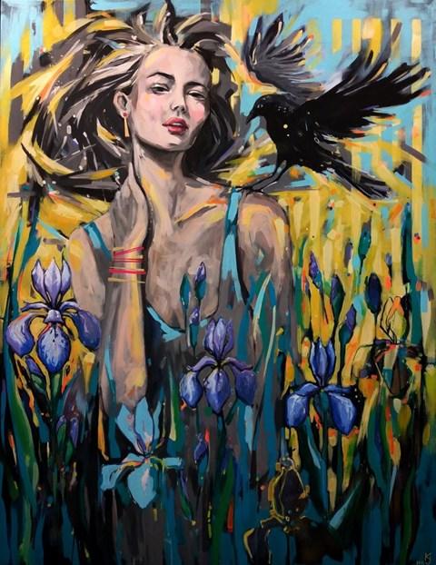 Obraz do salonu artysty Kamila Jarecka pod tytułem Iryda