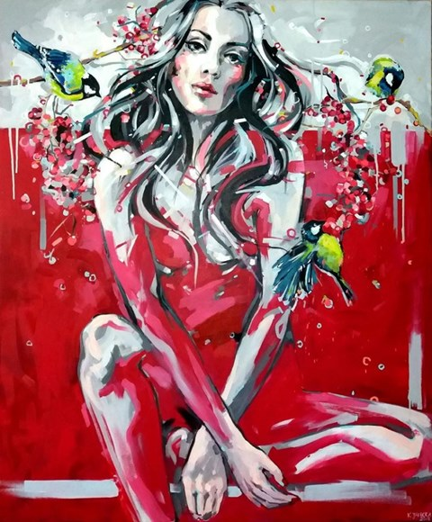 Obraz do salonu artysty Kamila Jarecka pod tytułem Sikorka