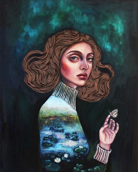 Obraz do salonu artysty Viola Bąbol pod tytułem Nenufary