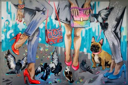 Obraz do salonu artysty Kamila Jarecka pod tytułem Miejskie plotki