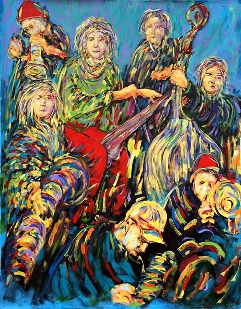 Obraz do salonu artysty Adam Bojara pod tytułem Kuglarze