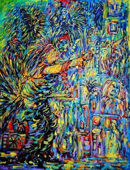 Obraz do salonu artysty Adam Bojara pod tytułem Karnawał