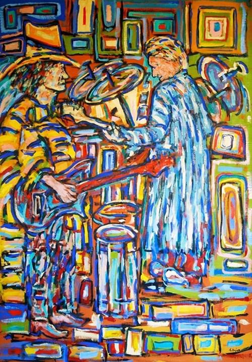 Obraz do salonu artysty Adam Bojara pod tytułem Muzycy