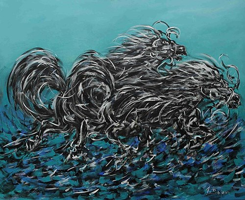 Obraz do salonu artysty Adam Bojara pod tytułem Konie
