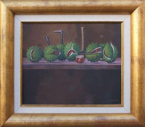 Obraz do salonu artysty Zbigniew Woźniak pod tytułem Martwa natura z kasztanami