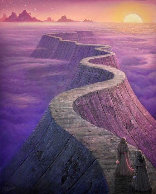 Obraz do salonu artysty Konstantyn Płotnikow pod tytułem The Road 4 Bound Wanderers