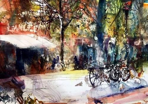 Obraz do salonu artysty Krzysztof Ludwin pod tytułem Paryż, jak zawsze Paryż