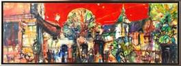 Obraz do salonu artysty Krzysztof Ludwin pod tytułem Truskawkowy Kraków