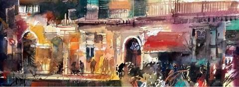 Obraz do salonu artysty Krzysztof Ludwin pod tytułem Sycylia 2018. Wspomnienie