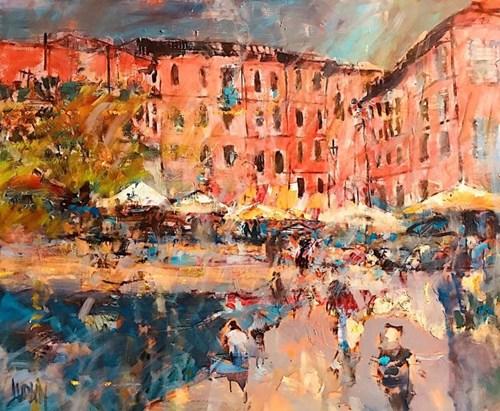 Obraz do salonu artysty Krzysztof Ludwin pod tytułem Włoskie wakacje Cinque Terre