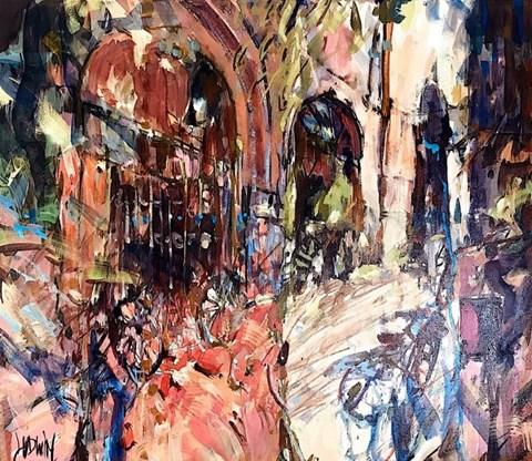 Obraz do salonu artysty Krzysztof Ludwin pod tytułem Kraków. Rower Agnieszki