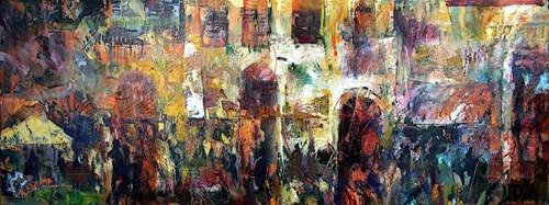 Obraz do salonu artysty Krzysztof Ludwin pod tytułem Włoskie klimaty. Zapomniane domy II