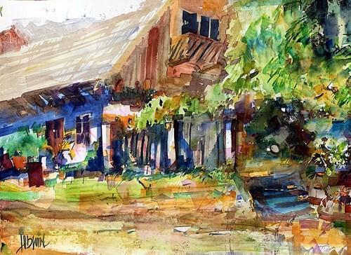 Obraz do salonu artysty Krzysztof Ludwin pod tytułem Lanckorona, kolorowe letnie spacery