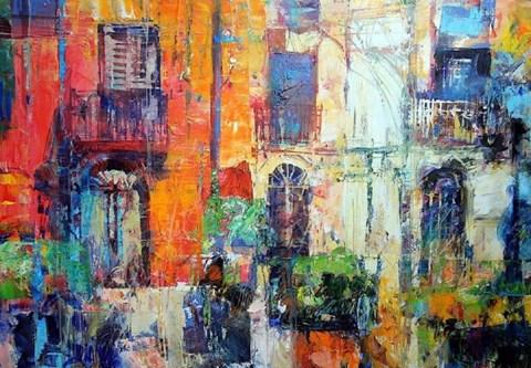 Obraz do salonu artysty Krzysztof Ludwin pod tytułem Cytrusowy zapach Sycylii