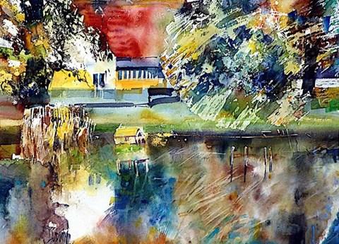 Obraz do salonu artysty Krzysztof Ludwin pod tytułem Łagów, kolory, kolory