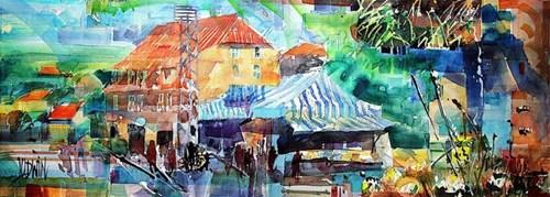Obraz do salonu artysty Krzysztof Ludwin pod tytułem Reszel