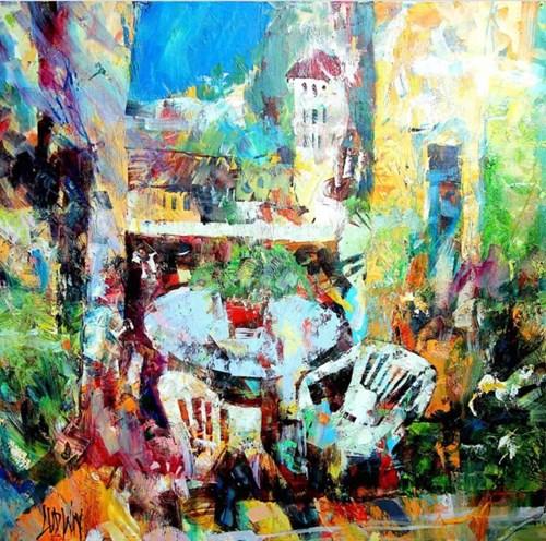 Obraz do salonu artysty Krzysztof Ludwin pod tytułem Taras Paolo i Sandry w Toskani
