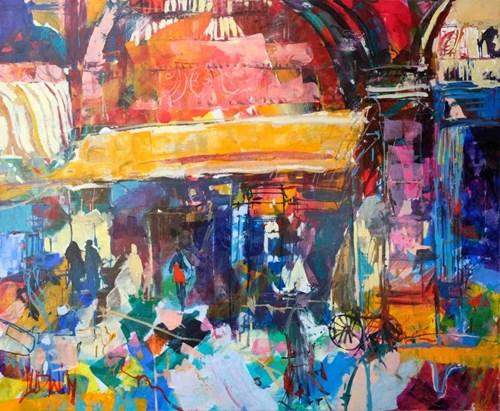 Obraz do salonu artysty Krzysztof Ludwin pod tytułem Manaus. Powidok
