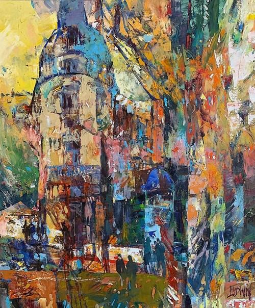 Obraz do salonu artysty Krzysztof Ludwin pod tytułem Jesienny Paryż z cyklu Art Deco