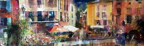 Obraz do salonu artysty Krzysztof Ludwin pod tytułem Lyon, francuski kolor w Owerni