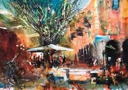 Obraz do salonu artysty Krzysztof Ludwin pod tytułem MEDIOLAN MOJA MIŁOŚĆ