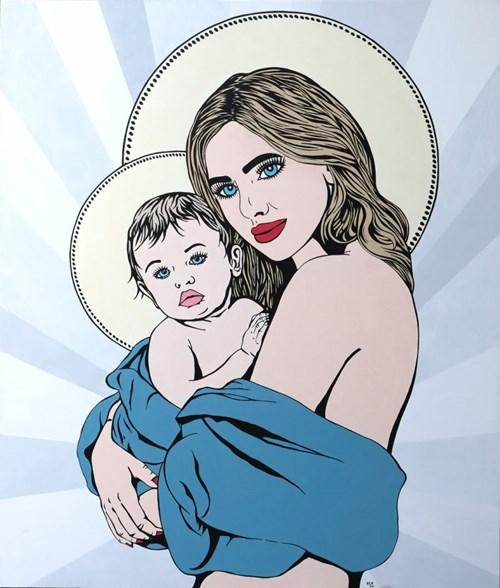 Obraz do salonu artysty Beata Szustkiewicz pod tytułem Ma'donna belle bayberry
