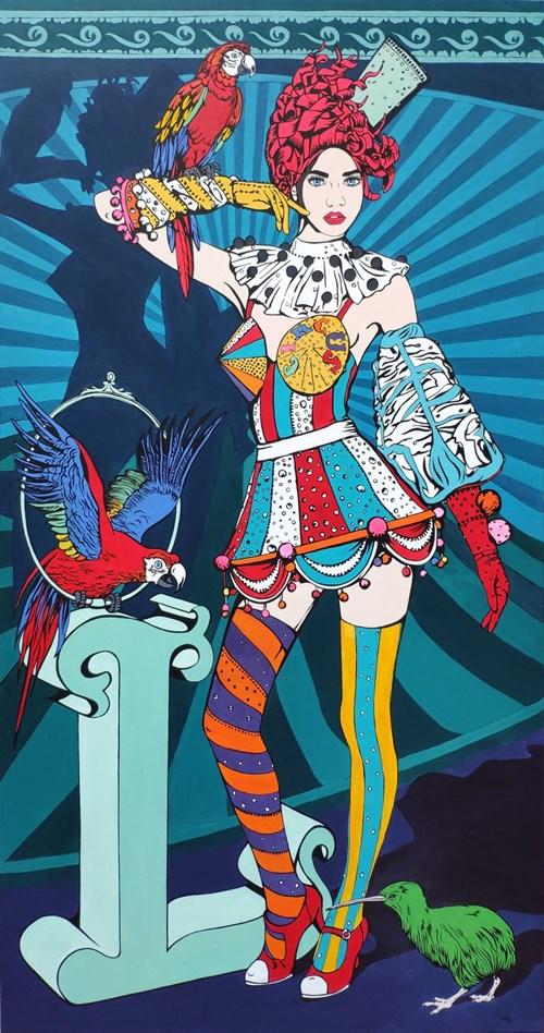 Obraz do salonu artysty Beata Szustkiewicz pod tytułem Kiwi