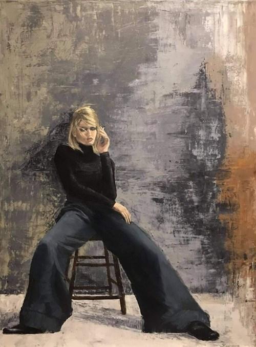 Obraz do salonu artysty Ewa Sławniewicz pod tytułem No interesanta