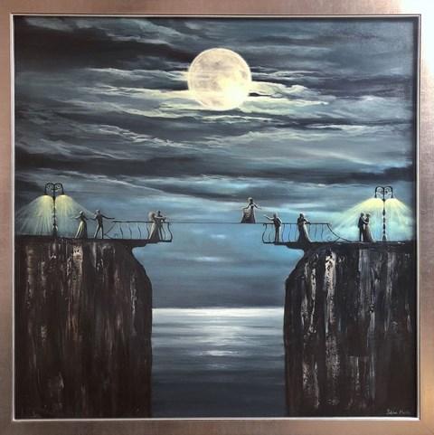Obraz do salonu artysty Sabina Maria Grzyb pod tytułem Bal lunatyków