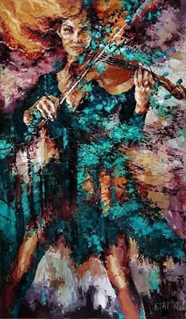 Obraz do salonu artysty Krystyna Róż-Pasek pod tytułem Powab