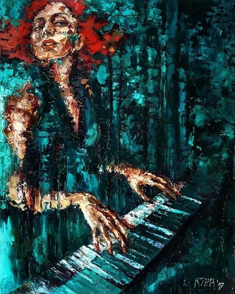Obraz do salonu artysty Krystyna Róż-Pasek pod tytułem Wstęga