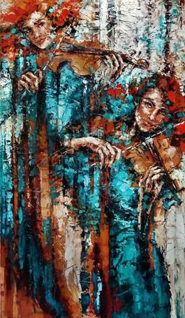 Obraz do salonu artysty Krystyna Róż-Pasek pod tytułem Kwazar
