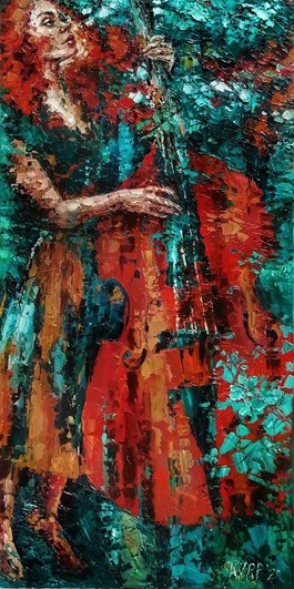 Obraz do salonu artysty Krystyna Róż-Pasek pod tytułem Sentyment