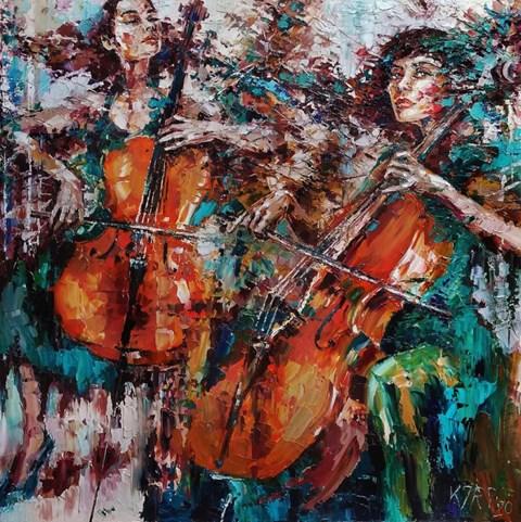 Obraz do salonu artysty Krystyna Róż-Pasek pod tytułem Gloria