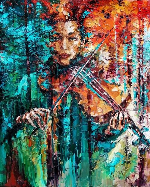 Obraz do salonu artysty Krystyna Róż-Pasek pod tytułem Prym