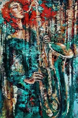 Obraz do salonu artysty Krystyna Róż-Pasek pod tytułem Supremacja