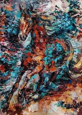 Living room painting by Krystyna Róż-Pasek titled Case